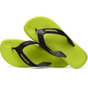 havaianas Surf Pro Sandalen Heren groen/zwart
